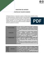 POLÍTICAS DE TALENTO HUMANO - MINISTERIO DEL INTERIOR - PARAGUAY - PORTALGUARANI