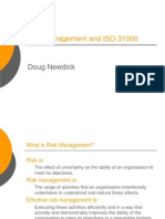 Risk Management and ISO 31000 - An Overview