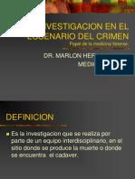 3. Investigacion en El Escenario de Muerte (Medicina Forense)