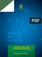 ORIENTAÇÕES PARA O GESTOR MUNICIPAL