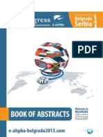 E-Ahpba 2013 Book of Abstracts