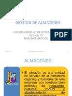 Gestion de Almacenes Actualizado Febrero 2011 Actualizado Nf
