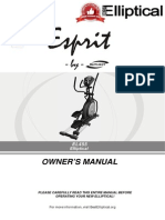 Owner's manual for  Spirit Esprit EL-455 Elliptical Trainer