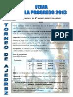 Convocatoria de Ajedrez Villa Progreso 2013