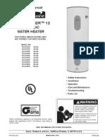 Power-Miser 12 Water Heater Manual