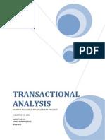 Hrm Transactional Analysis