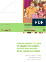 Guia Uso Saludable DE LAS NUEVAS TECNOLOGÍAS Secundaria