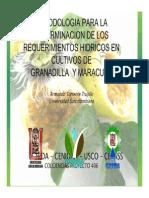 Cedula Cultivo Granadilla