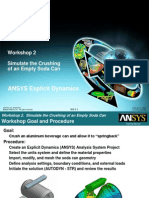 ANSYS Explicit Dynamics 120 Workshop 02