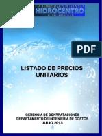 Listado de Precios Hidrocentro Julio 2013