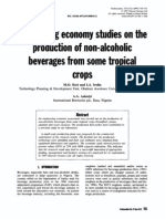 Engineering Economy Studies on the Production of Non-Alcoholic Beverages From Some Tropical Crops