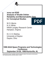 Analysis of Shuttle Reliability