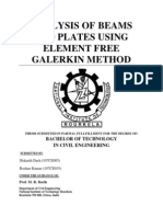 Thesis on Analysis of Beams and Plates by EFG Method