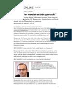Interview Spielergewerkschaft Baranowsky Hoffenheim