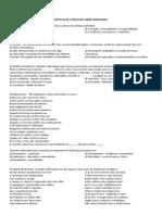 EXERCÍCIOS DE LITERATURA SOBRE SIMBOLISMO
