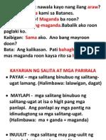 Kayarian Ng Salita at Mga Parirala