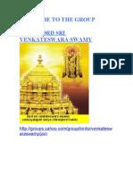 Lord Sri Venkateswara Swamy