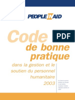 Code of Good Practice French