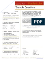 Wpt Sample Questions