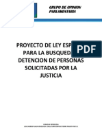Proyecto Ley Para La Captura de Los Mas Buscados