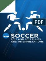 Soccer Rules 2013