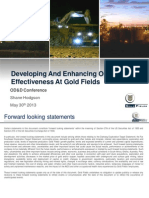 Developing and Enhancing OE at Gold Fields