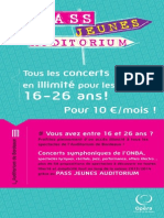 Flyer Pass Jeunes Auditorium