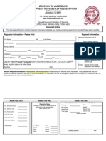 Jamesburg OPRA Request Form