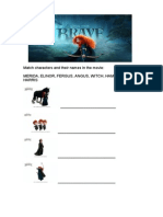 Brave Movie Worksheet