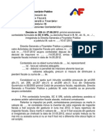 Decizia Nr. 326-2012 Control Finante Privind Marfuri Degradate