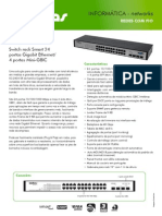 Catalogo SG 2404 SR Switch Rack Smart 24 Portas Gigabit 4 Portas Mini GBIC