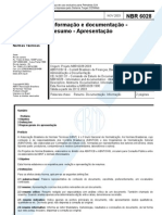 ABNT NBR 6028 resumos