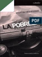 Martin Heidegger La Pobreza
