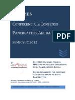 Recomendaciones Conferencia Consenso Pancreatitis Aguda