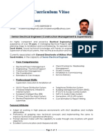CV FOR PAKISTANI ELECTRICAL ENGINEER