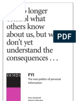Demos Report 2007 - the new politics of personal information