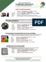Calendario CENASE 2013 - Sept a Diciembre