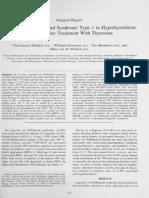 Acquired von Willebrand Syndromw Type 1 in Hypothyroidism
