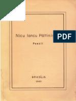 Nicu Iancu Paltinisanu Poezii Brasilia 1985 42 p