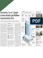 Brasil é o 4º país com mais predios sustentaveis