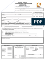 Monroe Township OPRA Request Form