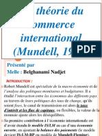 La théorie du commerce international (Mundel, 1957)