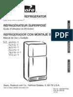 Kenmore Refridgerator Manual