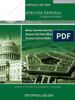 Defense Department IG report on Navy access for contractors