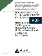 Modernizing the Nuclear Security Enterprise