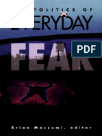 Brian Massumi Politics of Everyday Fear 1993