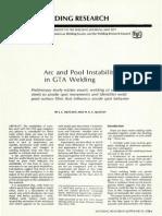 Arc and Pool Instabilty in Gta Welding Wj_1977_05_s133