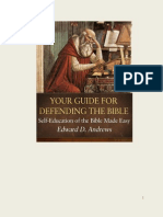Your Guide for Defending the Bible Self-education of the Bible Made Easy
