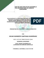 Evaluacin de La Adaptabilidad Del Frijol Terciopelo Stizolobium Deeringianum Como Cultivo de Cobertura y Abon