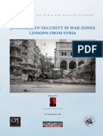 Journalists' Security in Conflict Zones - Lessons From Syria